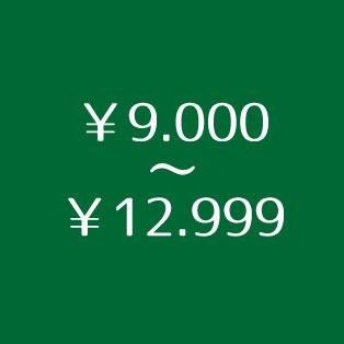 ¥9.000~¥12.999